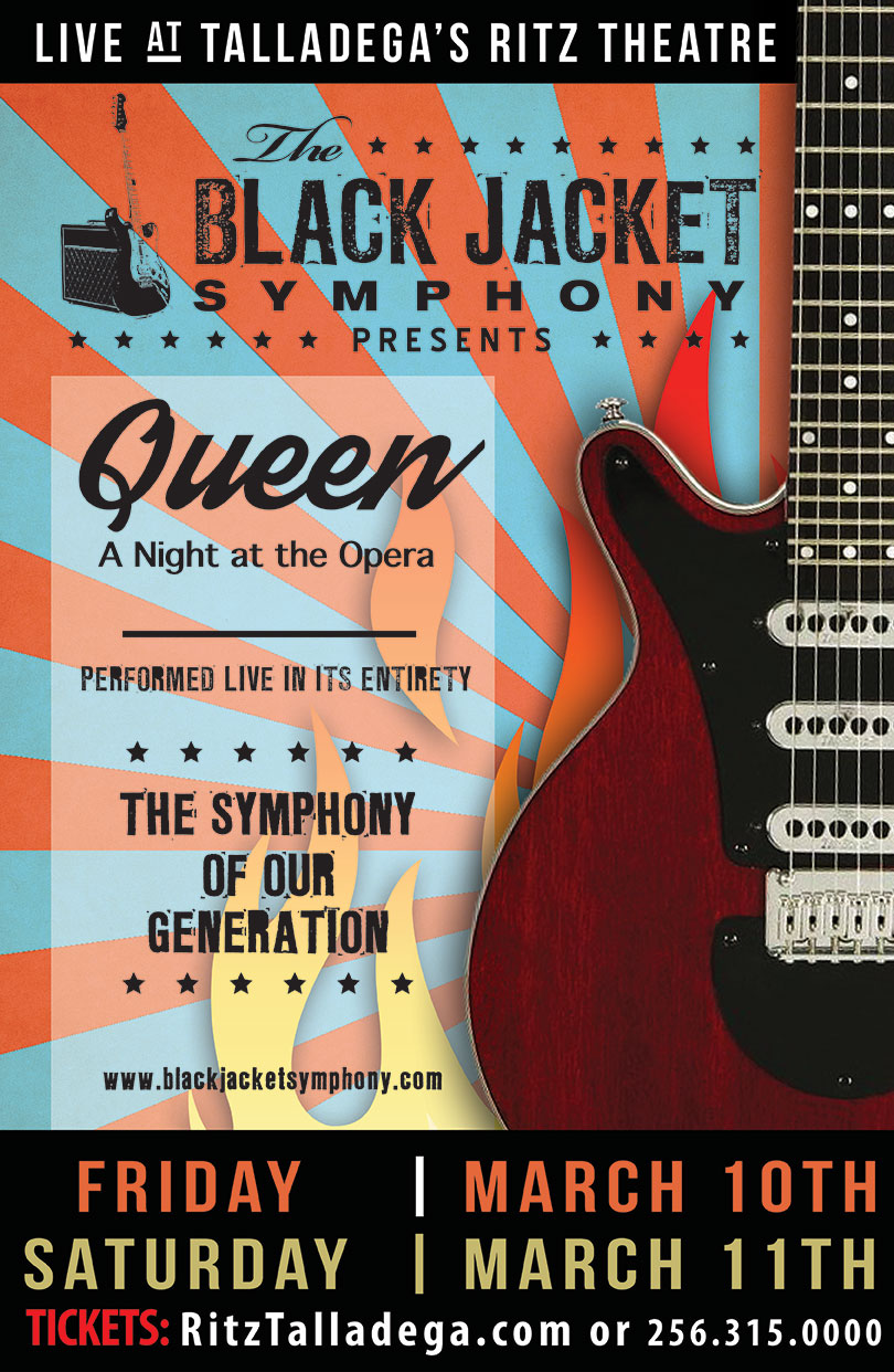 Black Jacket Symphony Queen @ Historic Ritz Theatre | Talladega | Alabama | United States